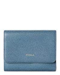 Furla | Blue Dolomia Babylon Trifold Wallet | Lyst