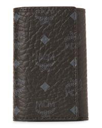MCM - Black Claus Visetos Key Holder Wallet - Lyst