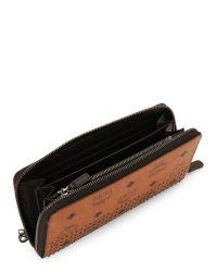 MCM - Brown Neo Stark Zip Wallet - Lyst