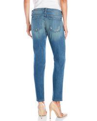 Flying Monkey - Blue Vintage Wash Boyfriend Jeans - Lyst