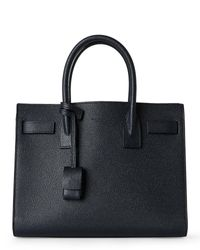 Saint Laurent | Black Baby Sac De Jour Textured Leather Tote | Lyst