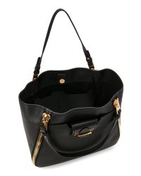 Tom Ford - Black Sedgwick Large Leather Tote - Lyst