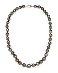 Tara Pearls | Black Tahitian Cultured Pearl Necklace | Lyst