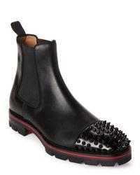 reputable site aec85 efa5c Men's Black Melon Spike Chelsea Boots