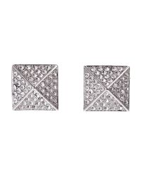 Vince Camuto | Metallic Silver-Tone Pyramid Stud Earrings | Lyst