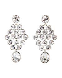 Givenchy | Metallic Silver-Tone Chandelier Earrings | Lyst