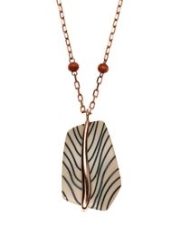 Vince Camuto - Metallic Rose Gold-Tone Necklace - Lyst