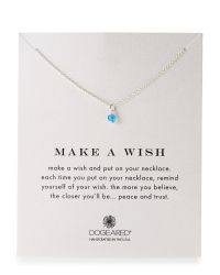 Dogeared - Make A Wish Blue Onyx Necklace - Lyst