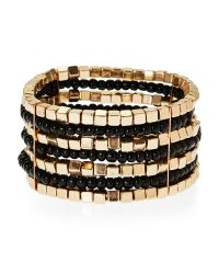 Catherine Stein | Multicolor Gold-Tone & Black Stretch Bracelet | Lyst