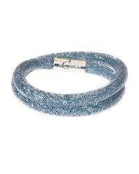 Swarovski - Blue Small Stardust Double Bracelet - Lyst