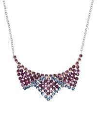 Swarovski | Multicolor Silver-Tone & Purple Best Small Necklace | Lyst