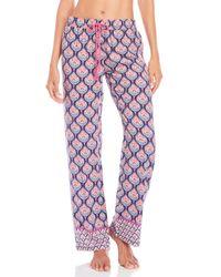 Pj Salvage - Blue Tassel Drawstring Pajama Pants - Lyst