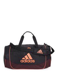 3b19e1d846bc Lyst - adidas Originals Black   Neon Orange Defense Medium Duffel ...