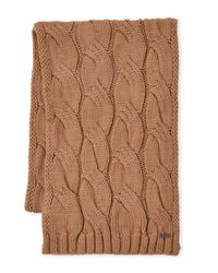 MICHAEL Michael Kors Brown Cable Knit Muffler for men