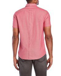 Ben Sherman - Pink Pindot Short Sleeve Sport Shirt for Men - Lyst