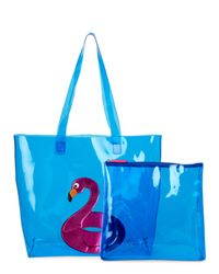 Betsey Johnson - Pink Flamingo Tote & Float Set - Lyst