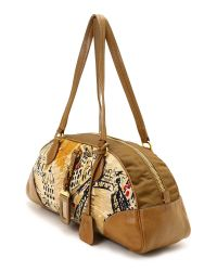 Prada - Brown Burnt Leather Montone Satchel - Lyst