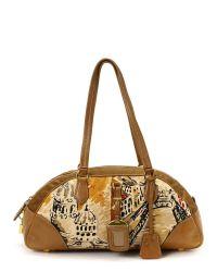 Prada | Brown Burnt Leather Montone Satchel | Lyst