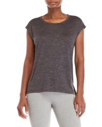 Gaiam - Gray Athena Cowl Back Tee - Lyst