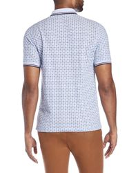 Fred Perry - Blue Drake Medallion Print Polo for Men - Lyst
