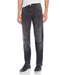 Versace Gray Pantalone Baggy Star Jeans for men