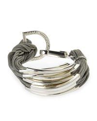Saachi - Metallic Grey & Silver-Tone Bracelet - Lyst