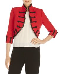 Zelda - Red Benita Cropped Napoleon Jacket - Lyst