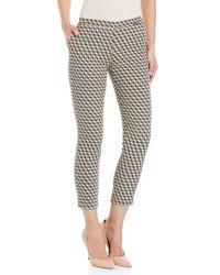 GAUDI - Black Geometric Patterned Pants - Lyst