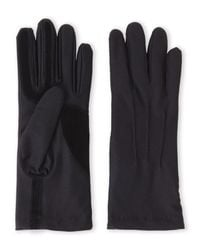 Isotoner Black Stretch Classics Fleece-lined Gloves for men
