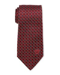 Versace | Red Small Circles Tie for Men | Lyst