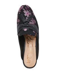 Sam Edelman - Black Paris Brocade Tasseled Loafer Mules - Lyst