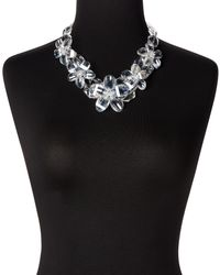 Kenneth Jay Lane - Multicolor Clear Resin Floral Necklace - Lyst
