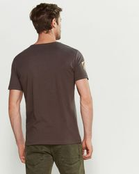 GAUDI Gray Charcoal Neighborhood Tee for men