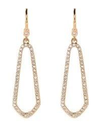Ivanka Trump - Metallic Gold-tone Crystal Open Earrings - Lyst