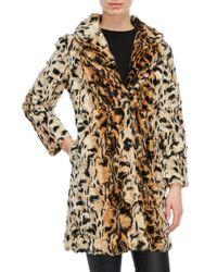 Love Token Brown Cheetah Faux Fur Coat