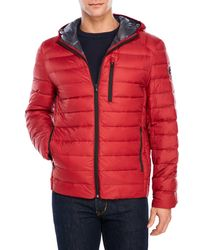 1331afdfca3b Lyst - MICHAEL Michael Kors Hooded Packable Down Jacket in Red for Men