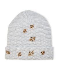 BCBGMAXAZRIA - White Knit Bees Knees Beanie - Lyst