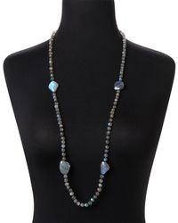 Bavna - Labradorite & Black Spinel Necklace - Lyst