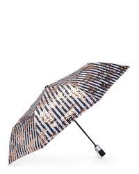 Bebe Auto Open Black Stripe Umbrella