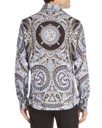 Versace Jeans Multicolor Mixed Chain Print Sport Shirt for men
