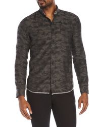 Descendant Of Thieves | Gray Camouflage Button-Down Shirt for Men | Lyst
