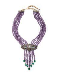 Heidi Daus - Multicolor Purple Swirl Design Necklace - Lyst