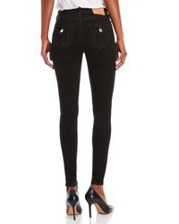True Religion - Black High-rise Super Skinny Jeans - Lyst