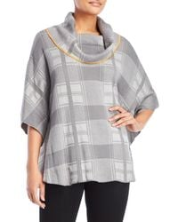 Fever Gray Poncho Sweater
