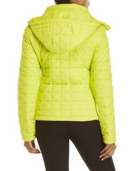 Superdry Yellow Hooded Box Quilt Jacket