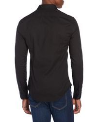 Love Moschino - Black Logo Embroidery Sport Shirt for Men - Lyst