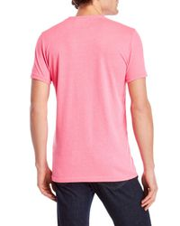 Superdry Pink Graphic Tee for men