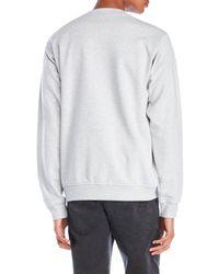 Love Moschino - Gray Peace Fleece Sweatshirt for Men - Lyst