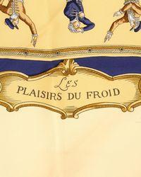 Hermès - Blue Silk Scarf - Vintage - Lyst