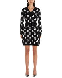 Moschino Black Teddy Jacquard Mini Dress